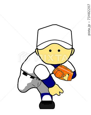 かわいい野球ピッチャー④ 73482207