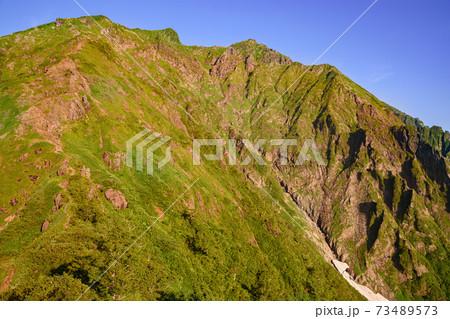 谷川岳ラクダの背から望む双耳峰(夏) 73489573