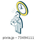 時間指定サービスを利用する女性 73494111