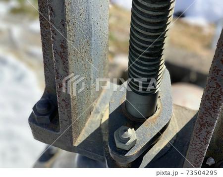 田畑の水路管理用の水門のハンドル機器 73504295