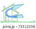 マイホームの換気イメージ 家庭内感染予防対策 住宅の換気システム 換気設備 24時間換気システム  73512556