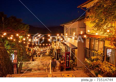 (群馬県)伊香保温泉 夜の石段街 73514744