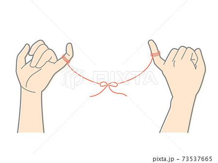 運命の赤い糸と結ばれた指 73537665