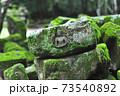 苔に覆われたアンコールの石仏2 73540892