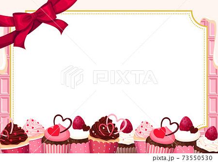 バレンタインマフィンのフレーム ホワイトチョコ 73550530