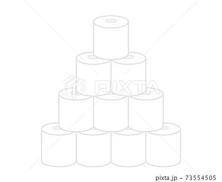 トイレットペーパーのベクターイラスト トイレ用品 73554505