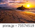 水晶浜(夕景) 73574519