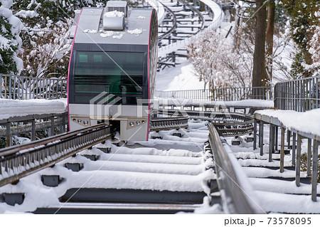 積雪の英彦山スロープカー_福岡県田川郡添田町大字英彦山 73578095