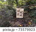 京都の山にあった珍しい看板「蛇咬狸糞」は立入禁止の意味 73579923