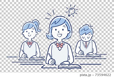 矢量圖素材:能理解課程內容的女學生 73594622