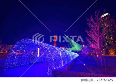 2020年12月 神戸メリケンパークのイルミネーション 73597325