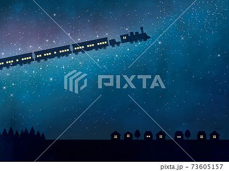 銀河を走る鉄道水彩 73605157