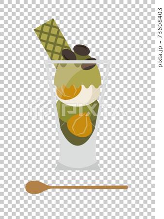 Matcha parfait sweets 73608403