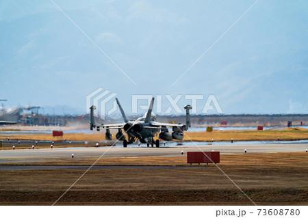 主翼を折ったF/A-18戦闘攻撃機 73608780