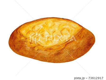チーズフランスパンの色鉛筆画 73612917