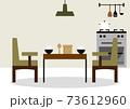 テーブル 食卓 ご飯 イラスト 73612960