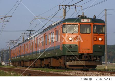 終焉近い信越本線115系(湘南色:快速) 73615231