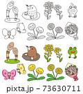春のイメージカットイラスト 73630711
