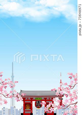 東京 桜 春 背景 73648971