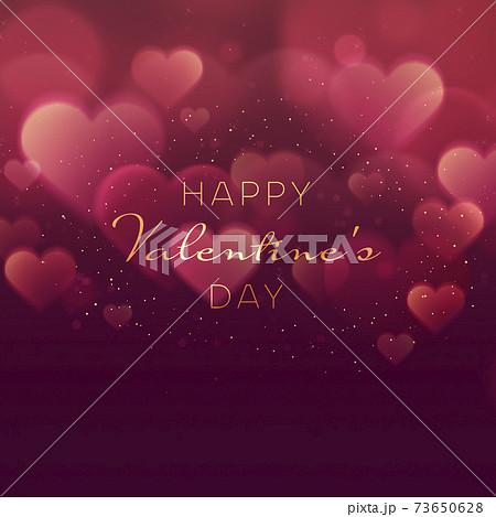 幻想的なハート 背景素材 バレンタイン【正方形】 73650628