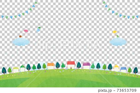 雨透的房屋景觀(2021)白色背景4科技 73653709