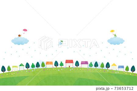 素材-雨の風景住宅イメージ(2021)白バック5テク 73653712