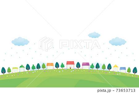 素材-雨の風景住宅イメージ(2021)白バック6 73653713