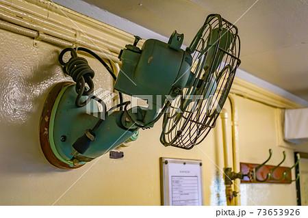 船内設備レトロな扇風機(初代南極観測船宗谷) 73653926