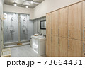 interior of the shower room 73664431