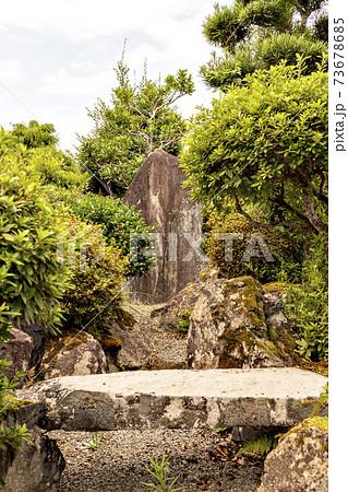 日本の伝統的ロックガーデンの風景 73678685