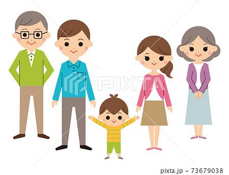 3世代家族 5人 73679038