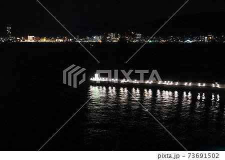 下関グランドホテルから見る夜景 下関・唐戸港 73691502