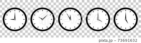 시계 아이콘 시간 변형 세트 73691632