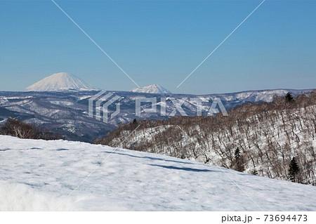 オロフレ峠から臨む羊蹄山(北海道登別市) 73694473