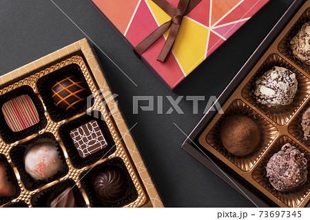 チョコレートギフト。チョコレート、バレンタイン、カカオ、スイーツなど。 73697345