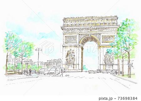 ヨーロッパの街並み・フランス・パリ・エトワール 73698384