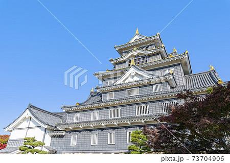 岡山県岡山市 日本100名城 晴天の岡山城 73704906
