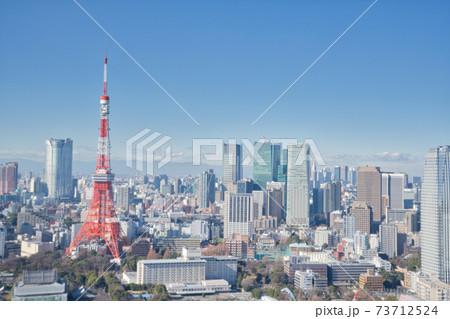 【東京都】1月・世界貿易センタービルディングからの眺め 73712524