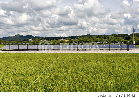 兵庫県三田市に設置されているソーラーパネル 73714442