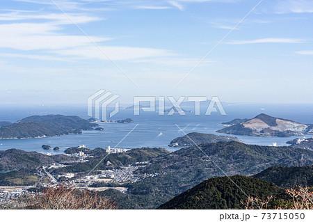 伊勢志摩スカイラインより鳥羽湾、遠く伊良湖岬を望む 73715050