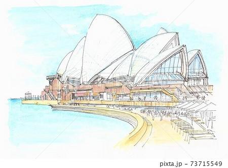 世界遺産の街並み・オーストラリア・オペラ座 73715549