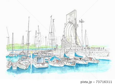ヨーロッパの街並み・ポルトガル・リスボン・航海王子の塔 73716311
