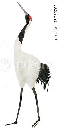 鶴の手描きイラストの素材 73726769