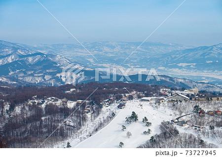 斑尾山の麓のスキー場 73727945