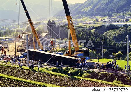 1997年6月 山陰線113系脱線事故復旧作業 73730770
