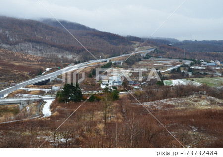 2000年有珠山噴火で国道230号線損壊に伴い移設された旧虻田洞爺湖IC跡 73732484