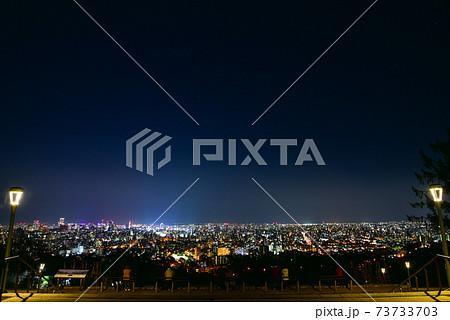 旭山記念公園から眺める札幌の夜景 73733703