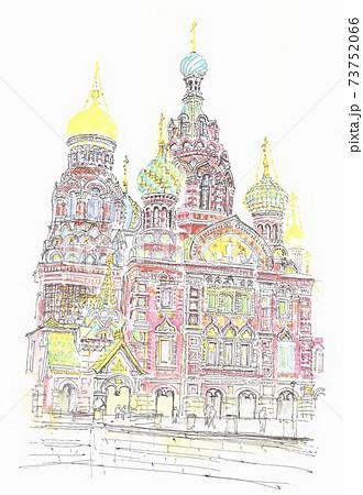 世界遺産の街並み・ロシア・血の上の教会 73752066