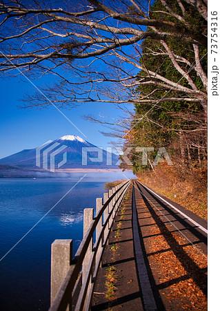 河口湖からの絶景富士山 73754316