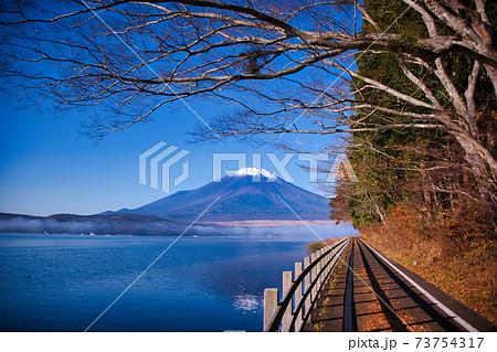 河口湖からの絶景富士山 73754317